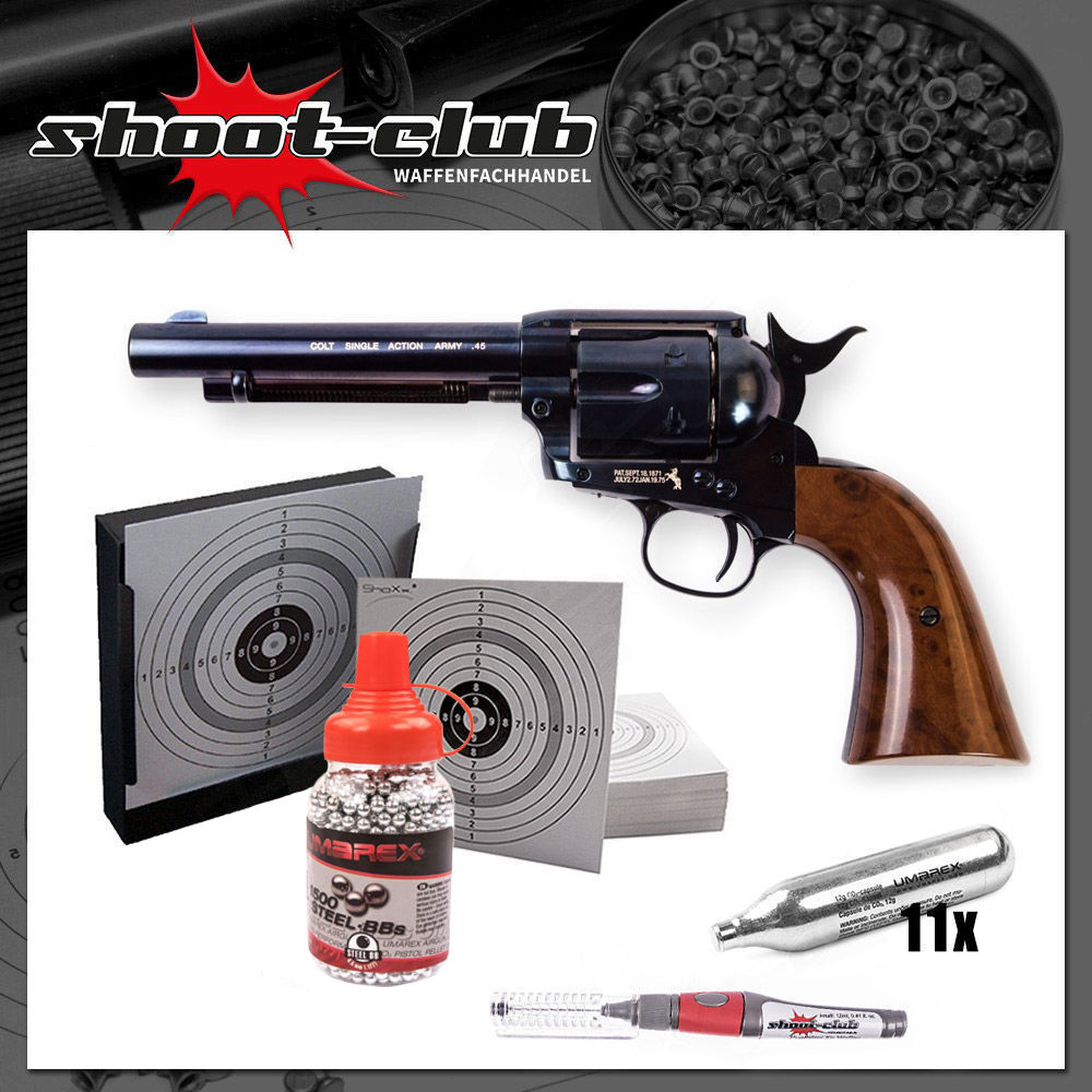 COLT SAA .45 CO2-Revolver Kaliber 4,5mm Stal-BBs - Blue Finish