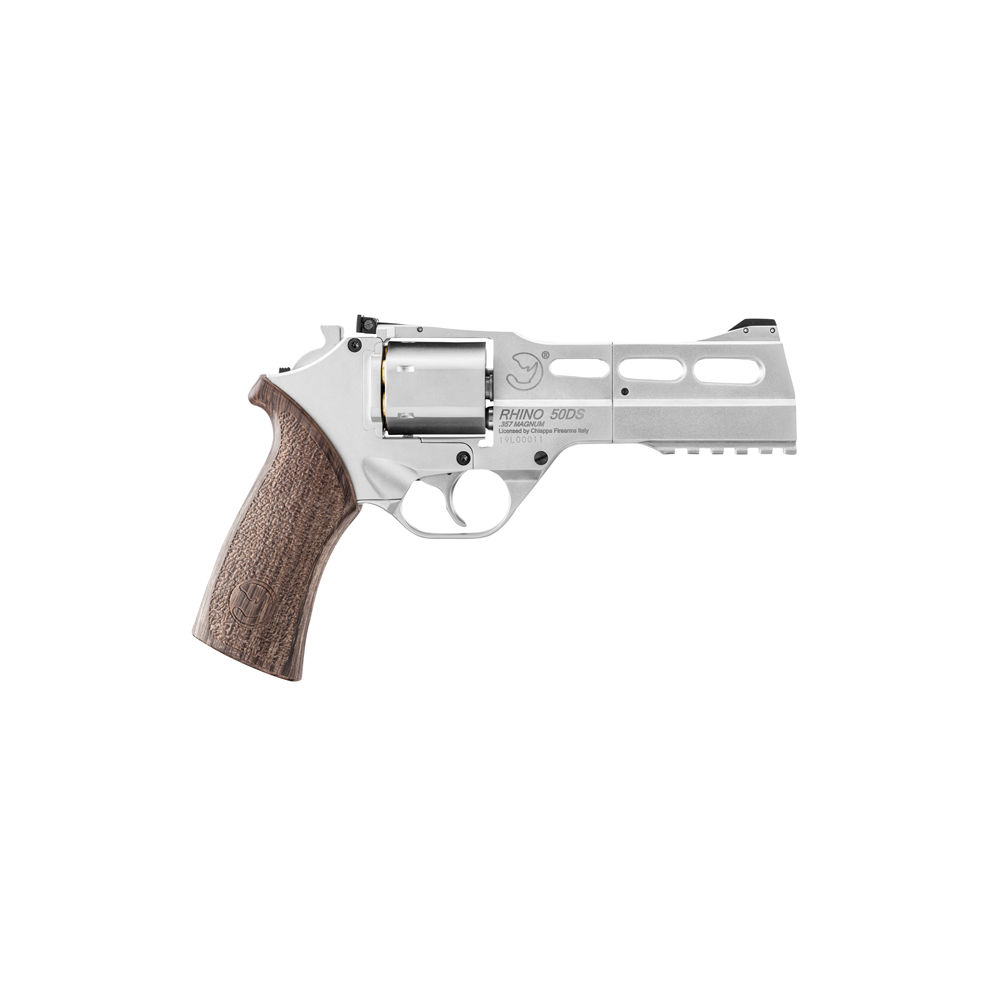 Chiappa Rhino 50DS Co2 Revolver 4,5mm BB Nickel / Braun