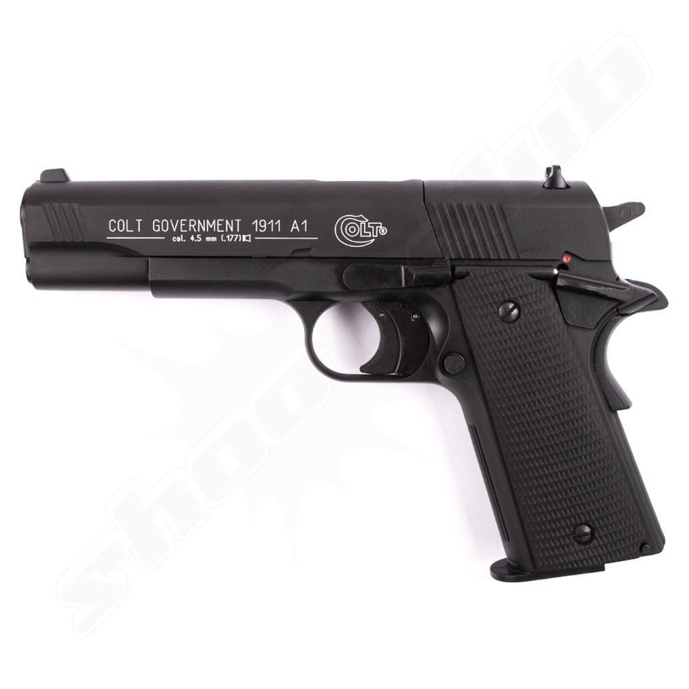 Colt Government 1911 A1 CO2 Pistole br�niert Kal. 4,5mm
