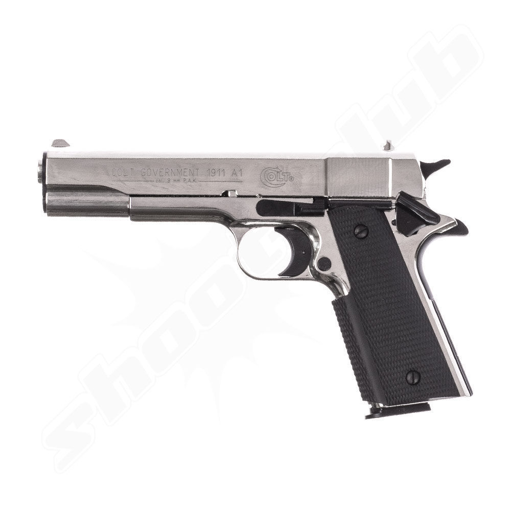 Colt Government 1911 Schreckschusspistole - polished chrome