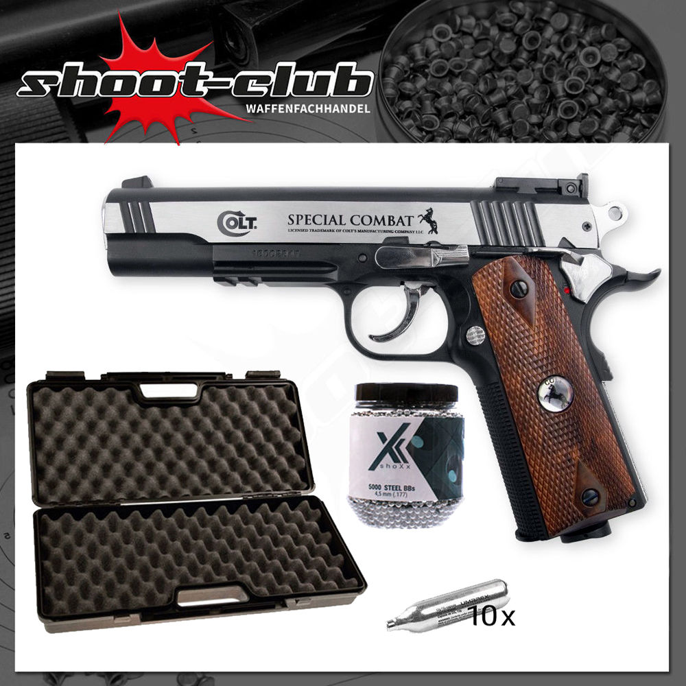 Colt Special Combat Classic CO2 Pistole 4,5mm BBs - Koffer-Set