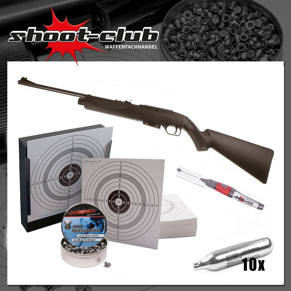 Crosman 1077 - CO2 Gewehr /4,5mm Diabolo - Set