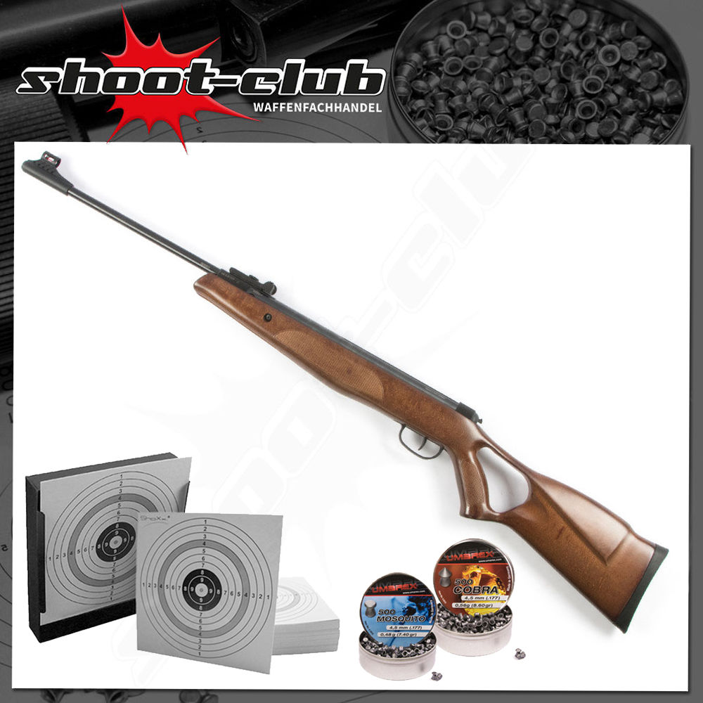 DIANA Two Fifty - 250 - Luftgewehr 4,5mm Diabolos - Kugelfang-Set