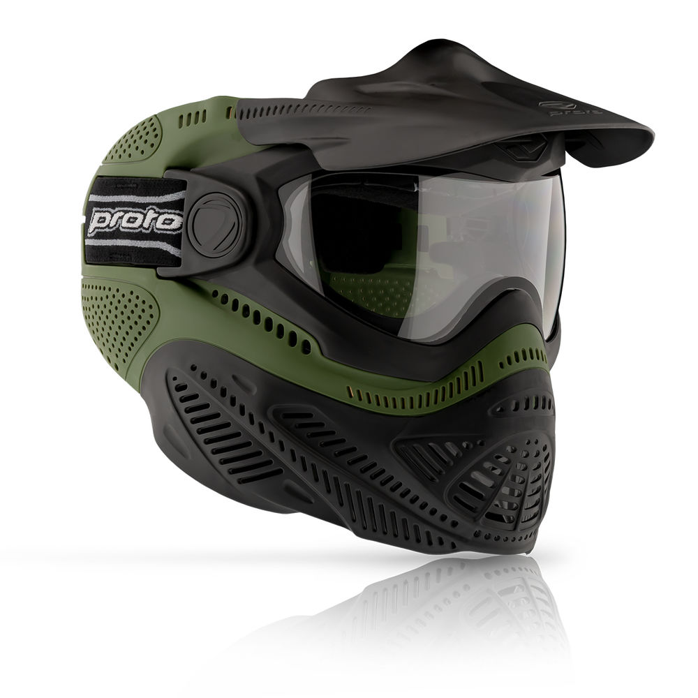 DYE Proto Switch FS Paintball / Airsoft Thermal Maske Olive