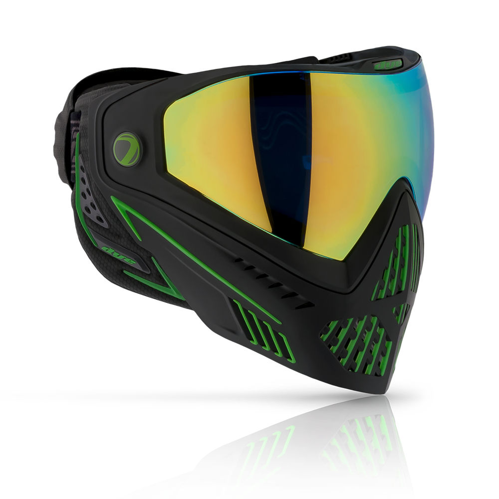 DYE i5 Thermal Maske/Goggle Paintball/Airsoft EMERALD black/lime