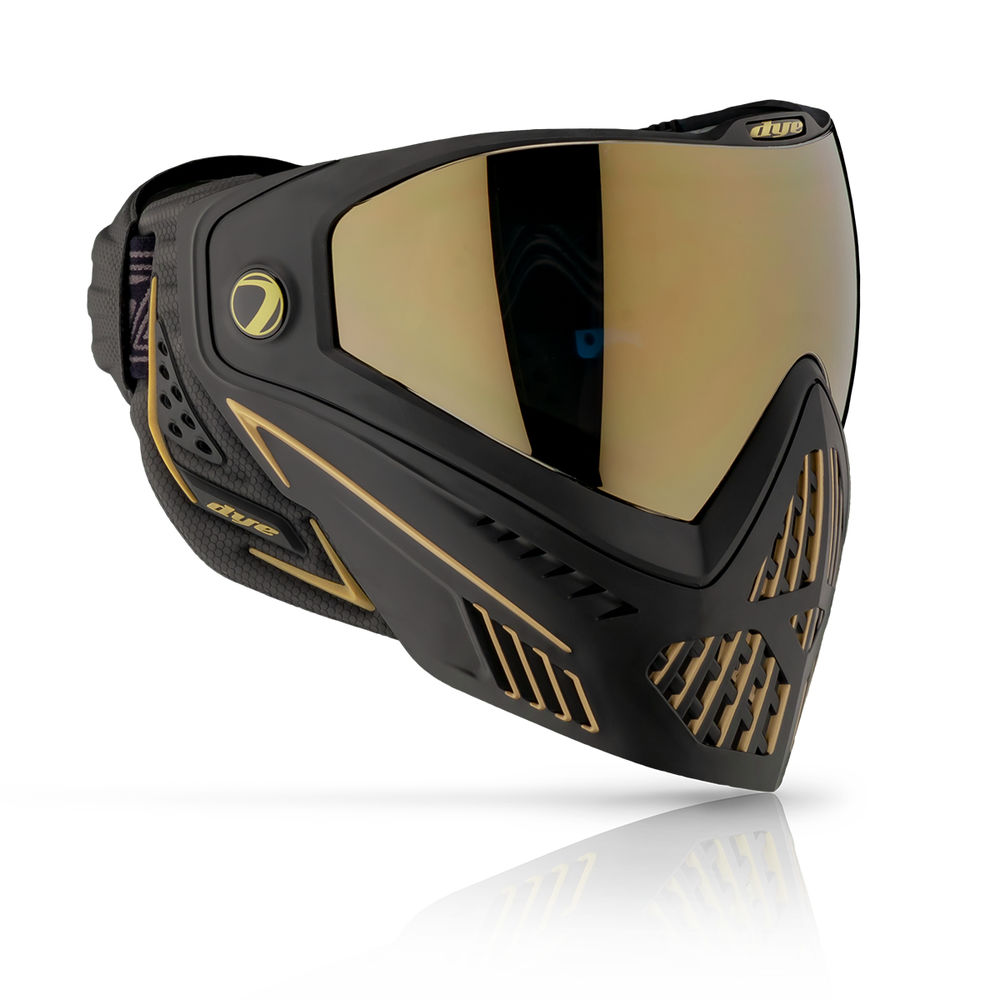 DYE i5 Thermal Maske/Goggle Paintball/Airsoft ONYX black/gold