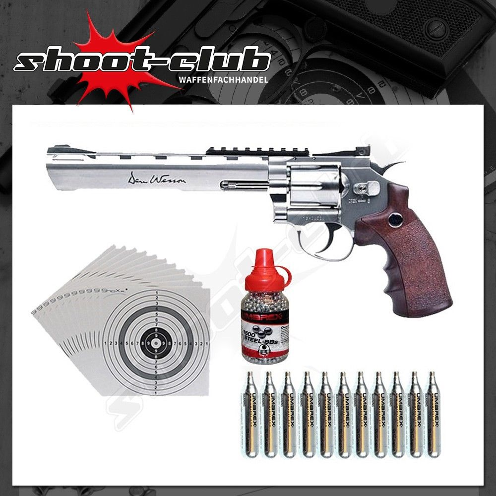 Dan Wesson 8 Zoll CO2-Revolver Kaliber 4,5mm - Set
