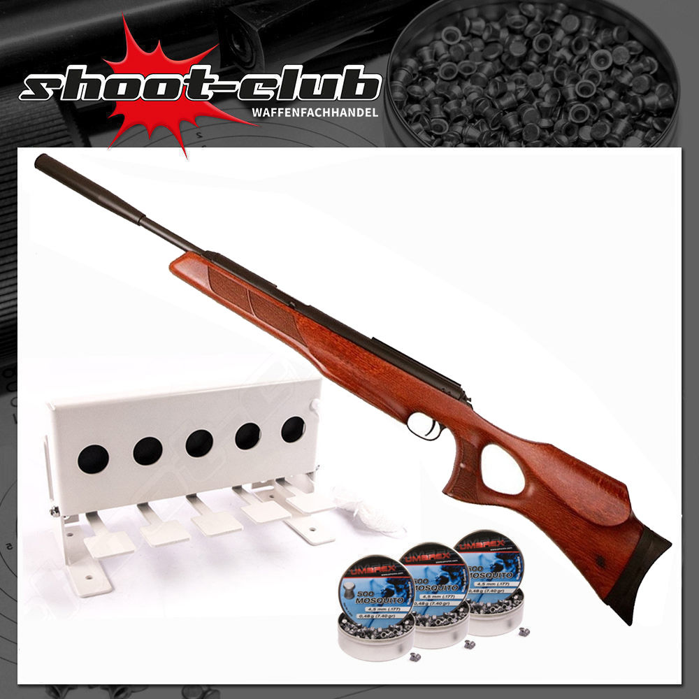 Diana 56TH Target Hunter Luftgewehr 4,5mm Diabolos im Biathlon-Set