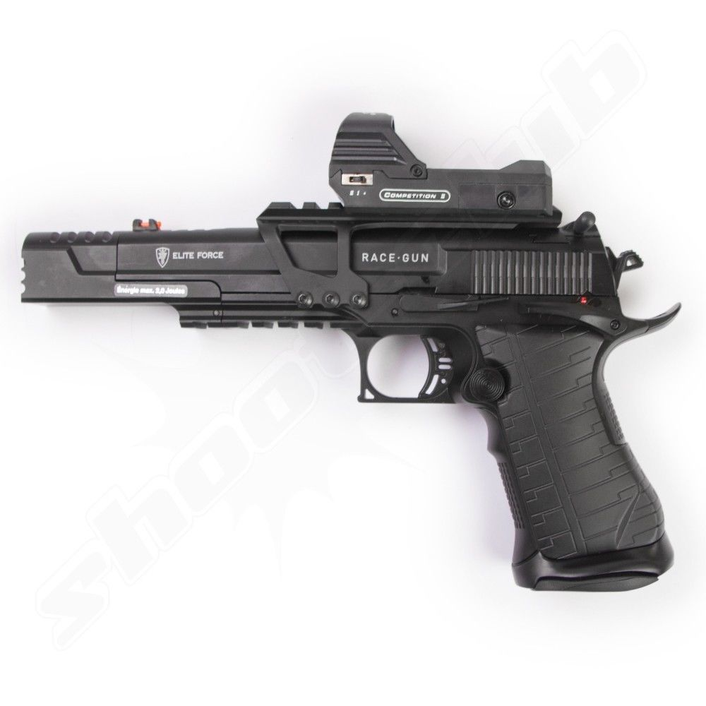 Elite Force Race Gun Softair Pistole Co2 GBB 6 mm 2 Joule + Visier