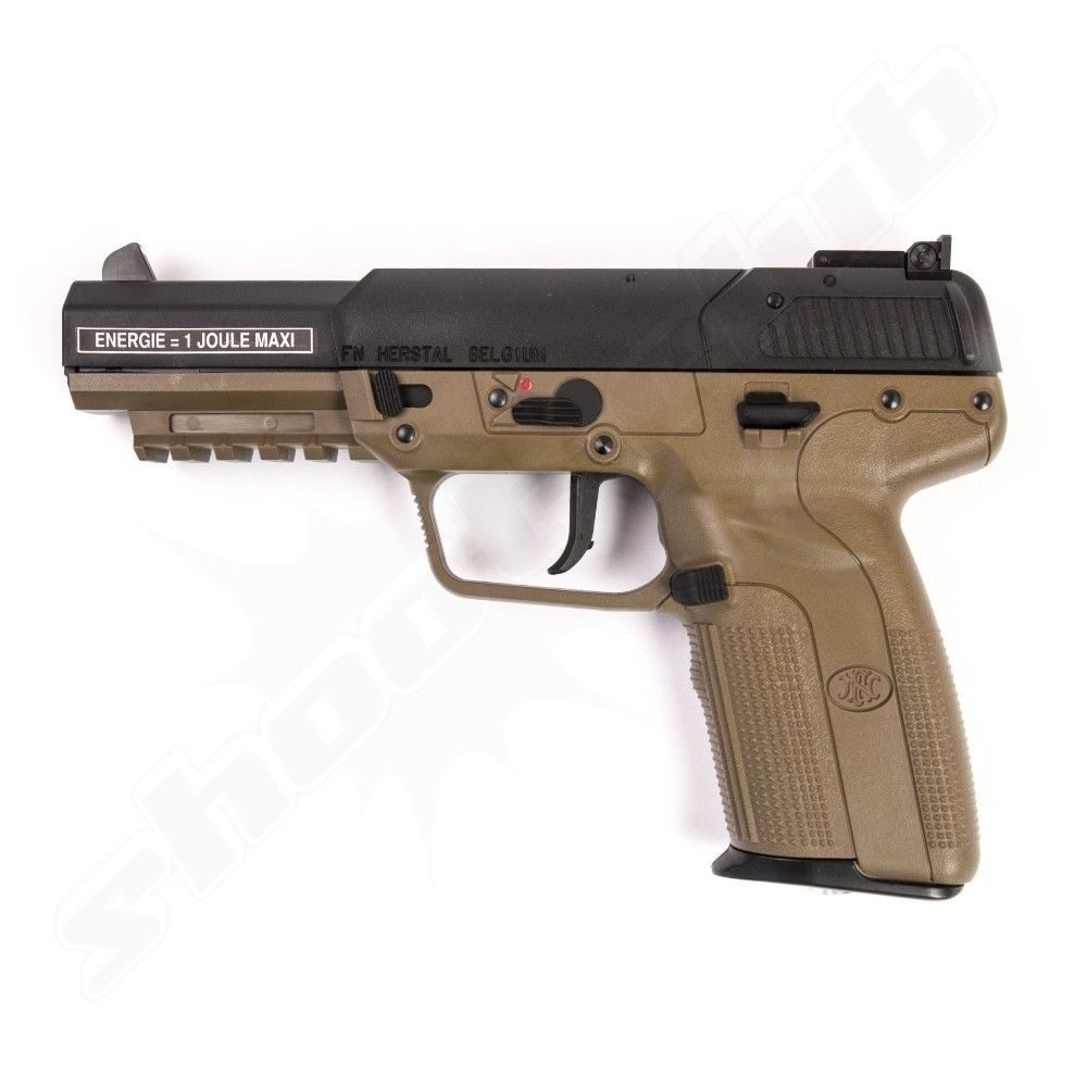 FN Herstal Five-seveN Softair Pistole Co2 GBB Marushin 6 mm 1 Joule TAN