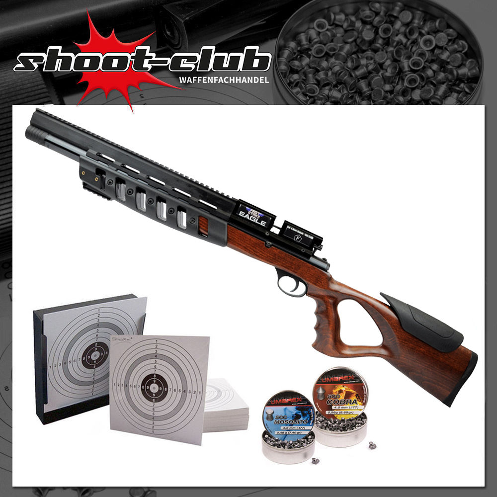 First Strike Eagle 200bar Pressluftgewehr 4,5 mm - Kugelfang-Set