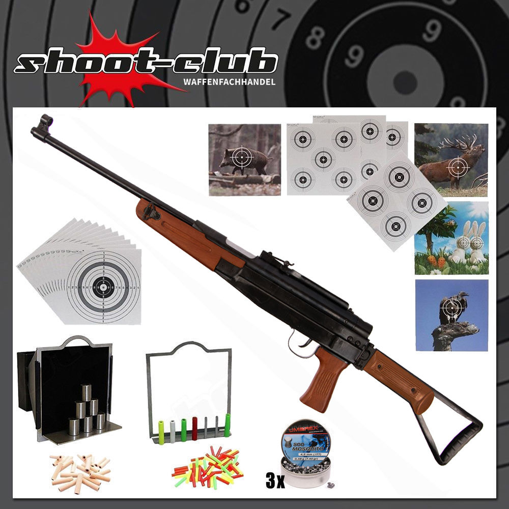First Strike SP47 Luftgewehr 4,5 mm Diabolos im Super-Target Set