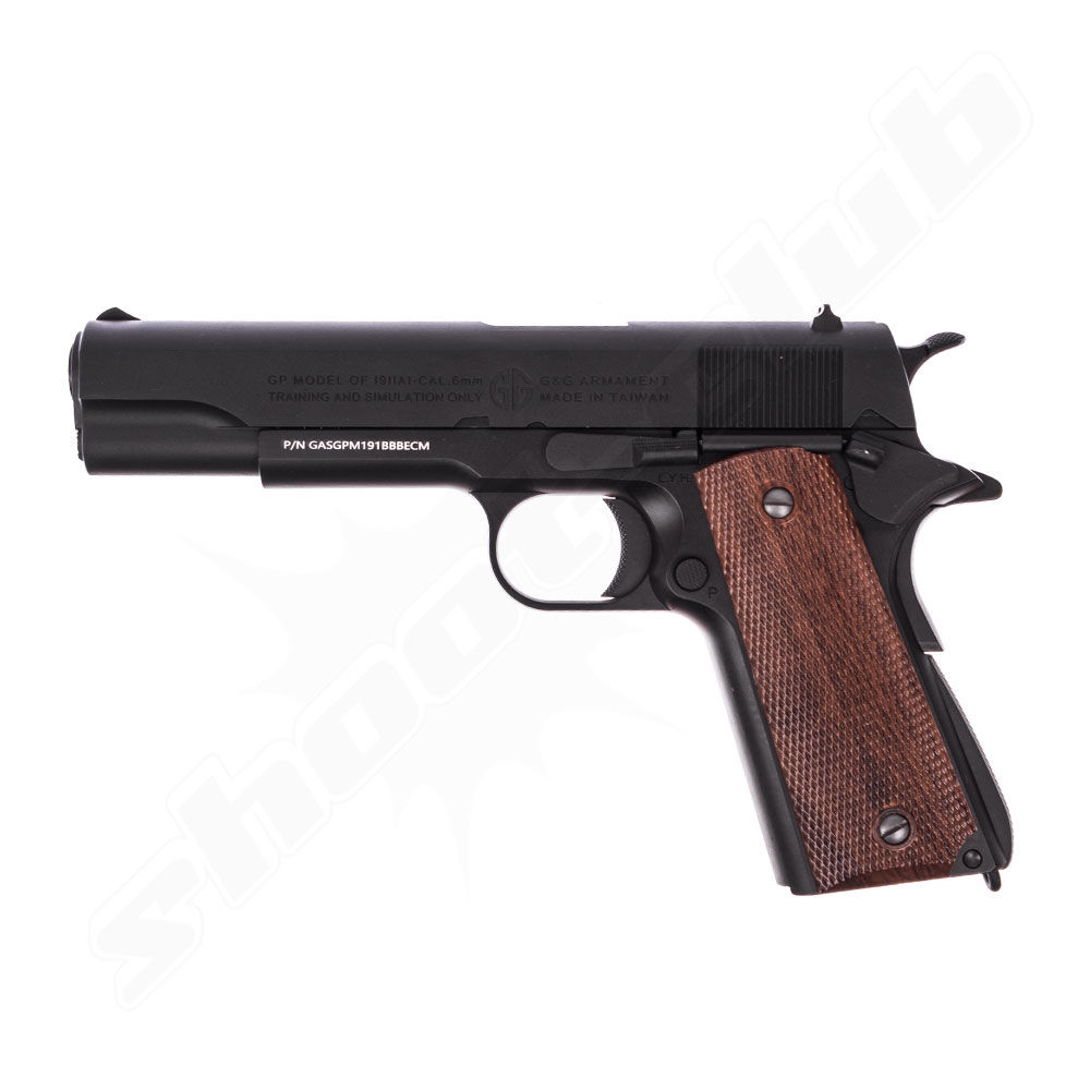 G&G GPM1911 6mm Airsoft Pistole ab18 Black - Gas Blow Back