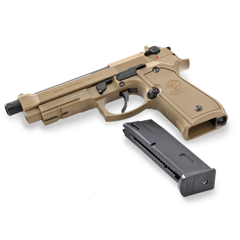 G&G GPM92 GBB - 6mm Airsoft Pistole ab18, Tan