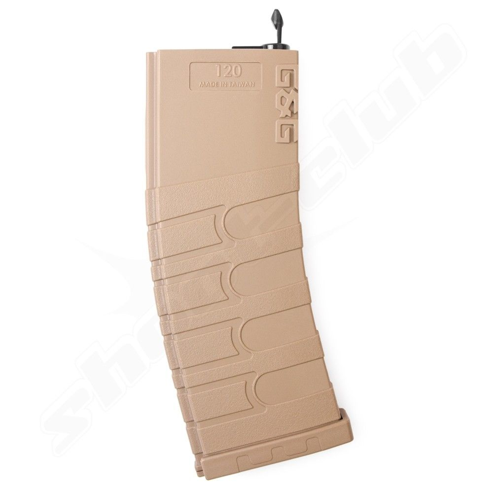 G&G M4 Mid Cap Magazin 120BB 6mm Softair Tan