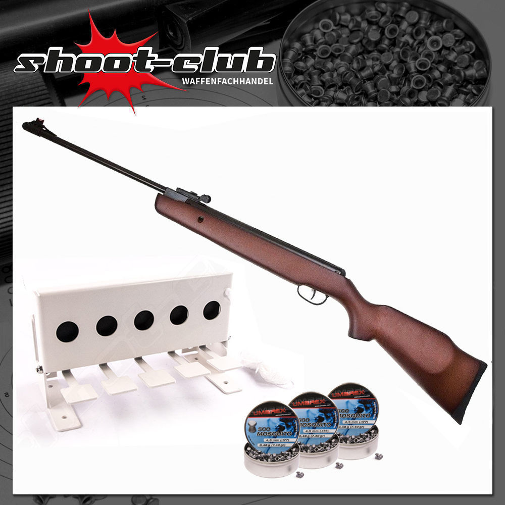 Hämmerli Black Force 550 Luftgewehr 4,5mm Diabolos im Biathlon Set