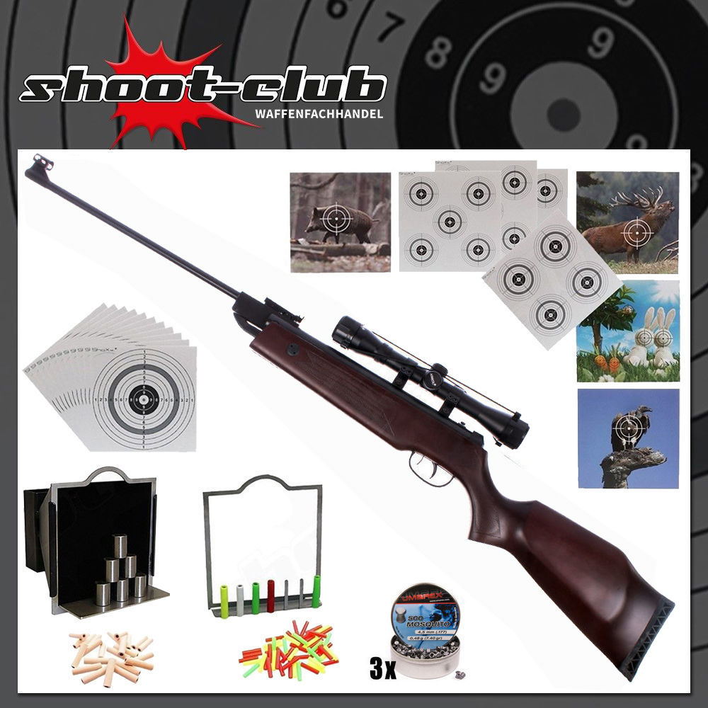 Hämmerli Hunter Force 750 Luftgewehr 4,5mm Diabolos im Super-Target Set