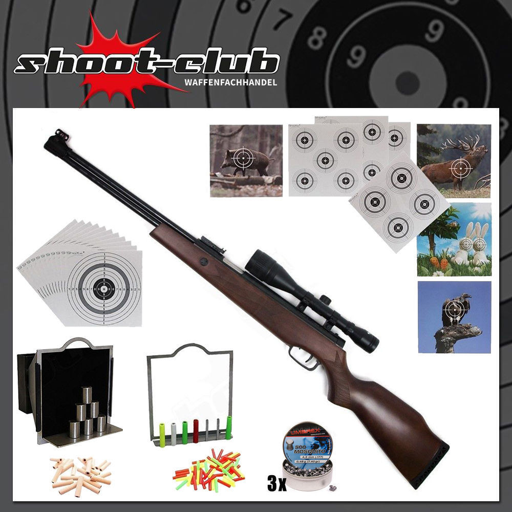 Hämmerli Hunter Force 900 4,5mm Diabolos im Super-Target-Set