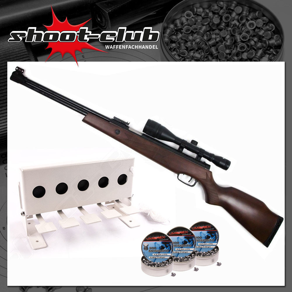 Hämmerli Luftgewehr Hunter Force 900 Kal. 4,5mm Biathlon Set
