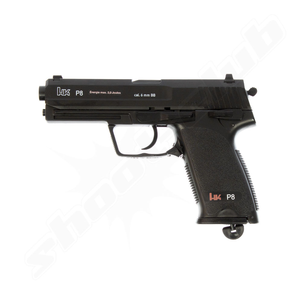 H&K P8 USP CO2 Softair Pistole 6mm NBB Fixed Slide 2 Joule schwarz