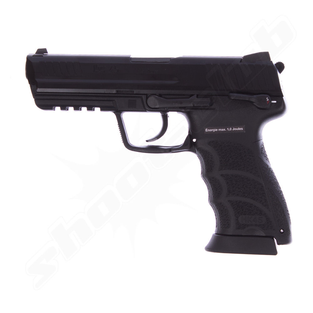 H&K USP .45 Softair Pistole GBB NS2 KWA 6 mm 1 Joule Metall schwarz
