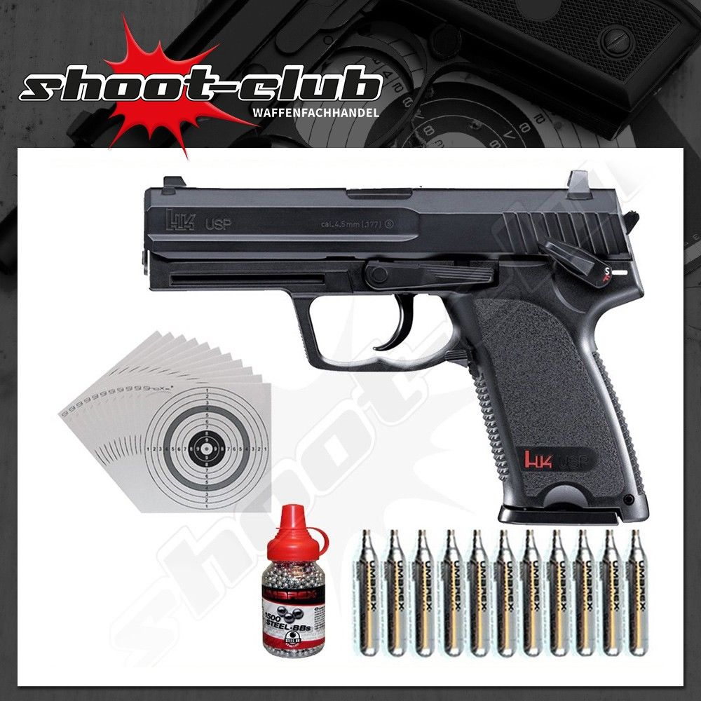 H&K USP CO2-Pistole 4,5 mm Stahl BBs - Set