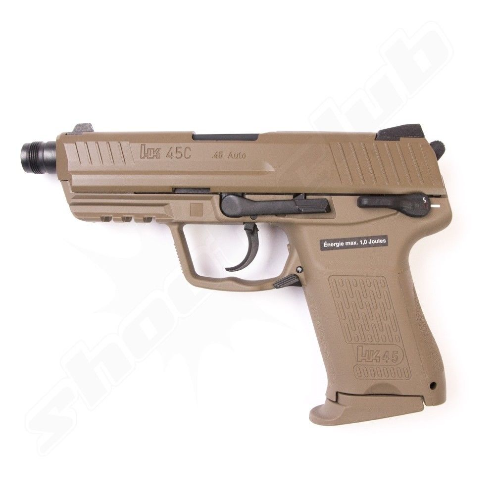 Heckler & Koch HK45 CT Softair Pistole GBB VFC 6 mm 1 Joule FDE