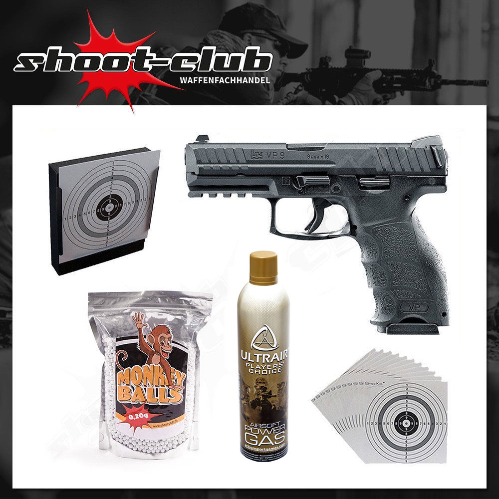 Heckler & Koch VP9 Softair Pistole Kal. 6mm - im Set
