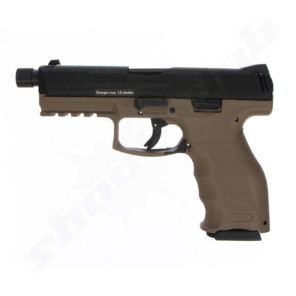 Airsoftpistole Heckler & Koch VP9 tactical -FDE GBB