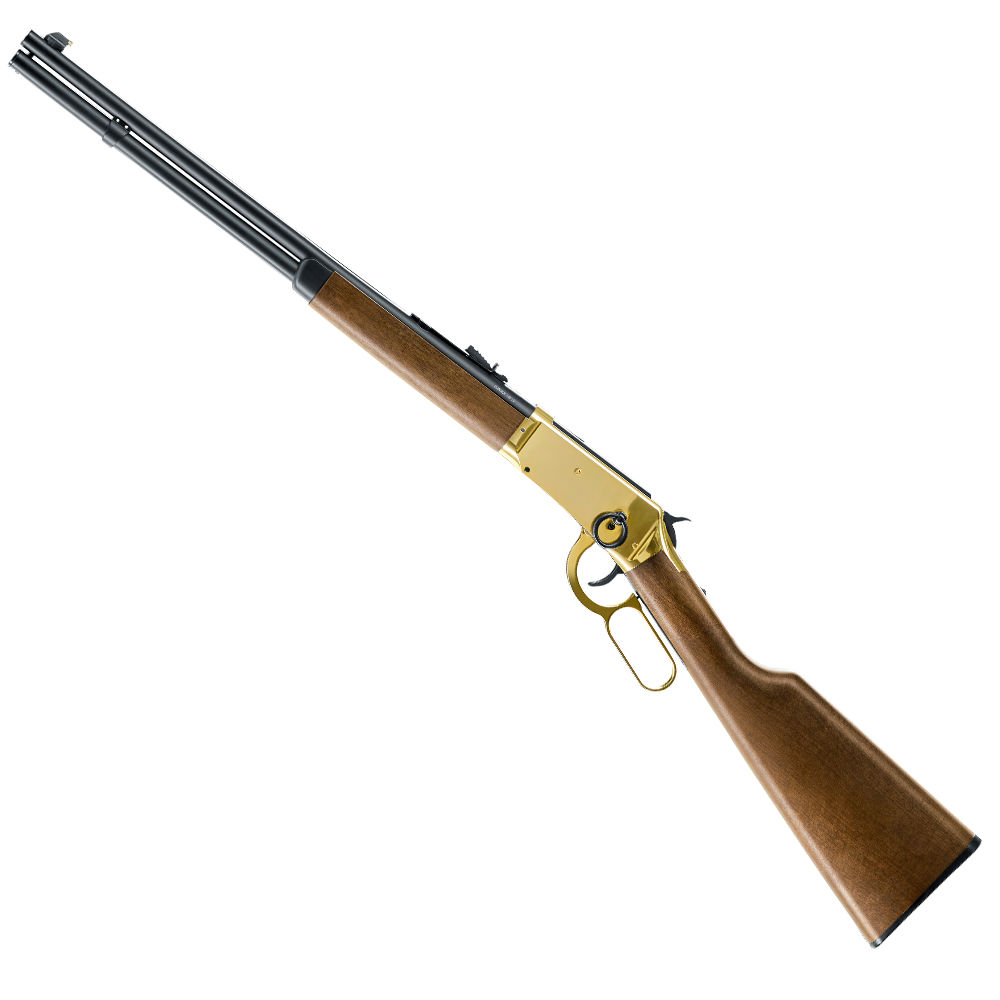 Legends Cowboy Rifle CO2 Gewehr 4,5 mm Stahl BBs - goldener Systemkasten