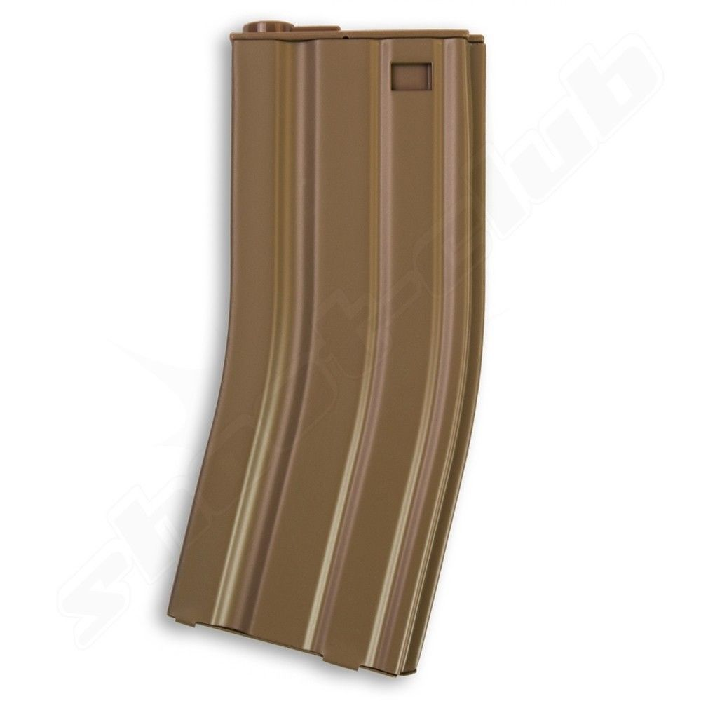 Magazin M4 Blech Mid Cap 70 BBs 6mm Softair - TAN