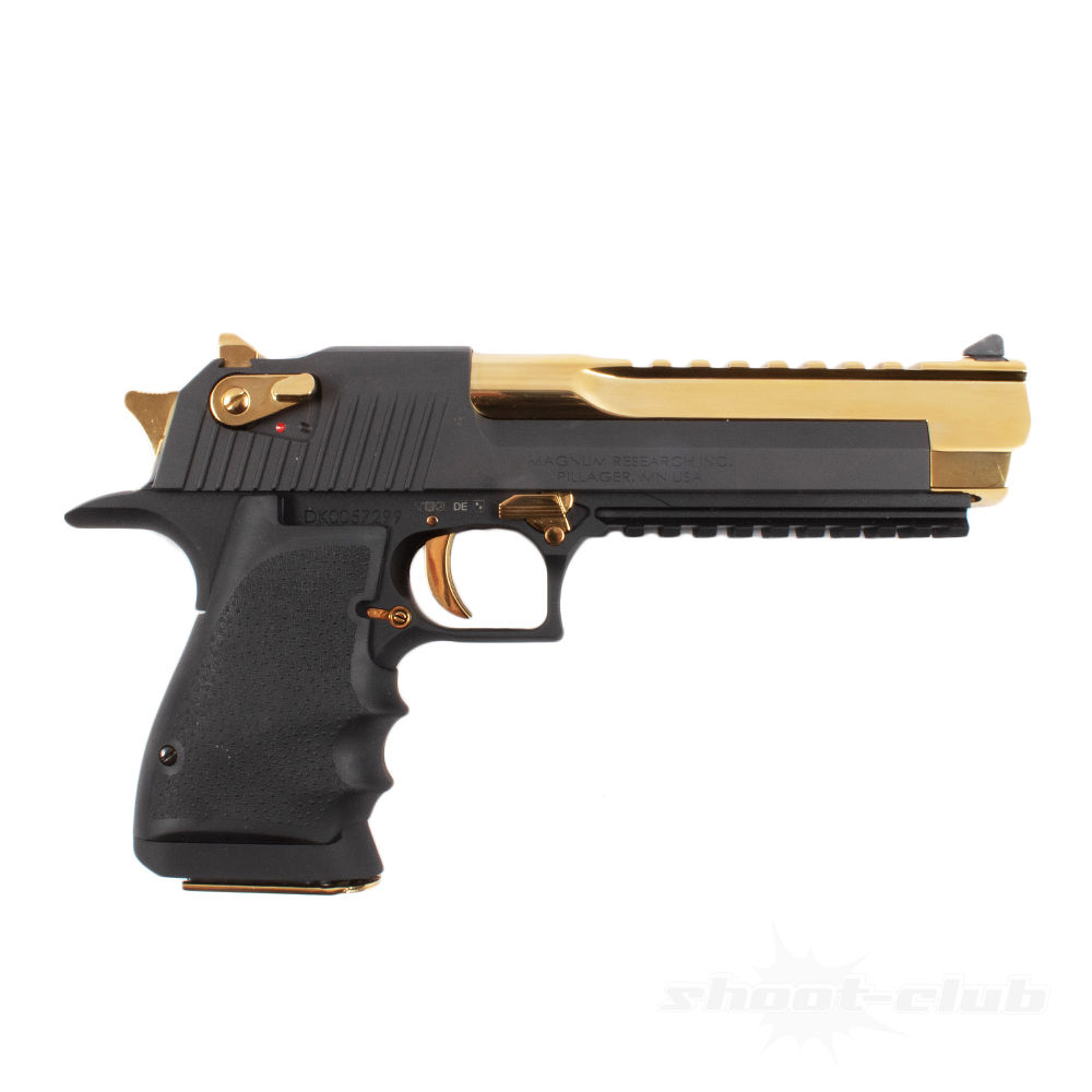 Magnum Research Desert Eagle XIX Pistole Black & Gold .50AE Lauf 6