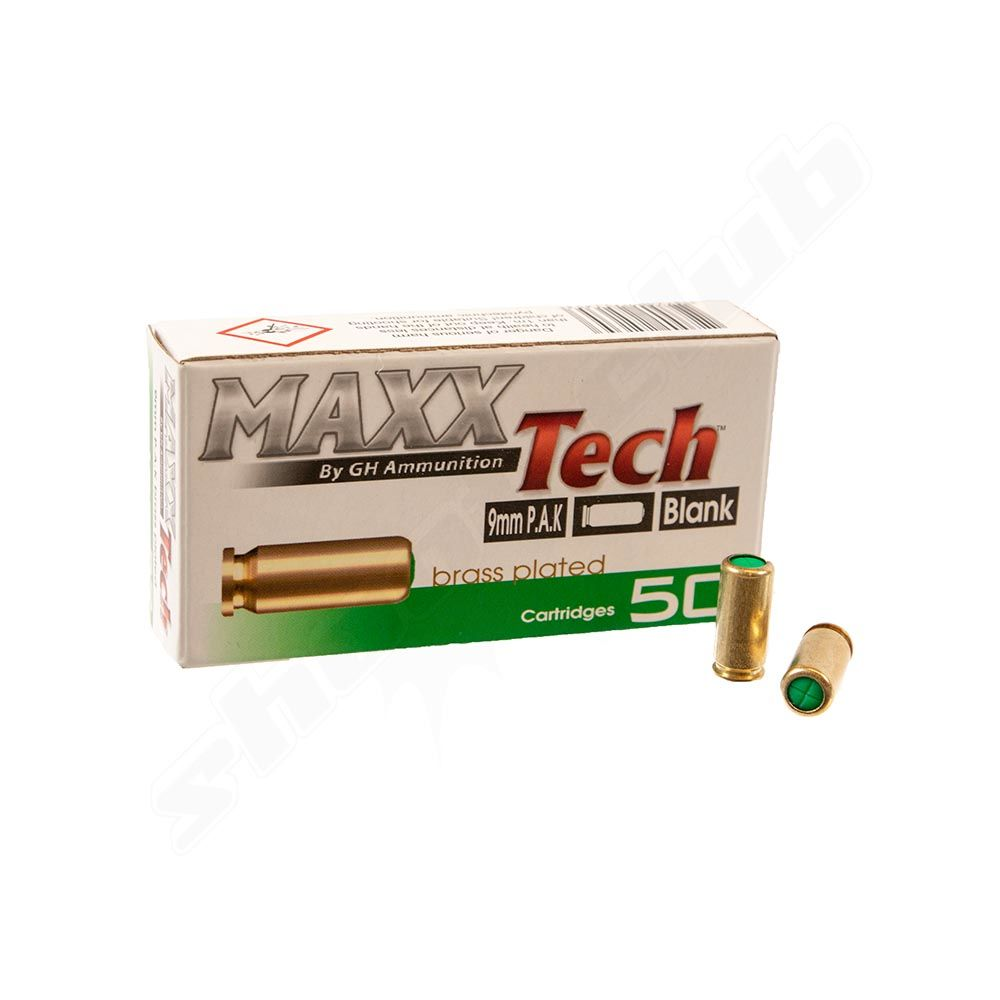 Maxxtech Platzpatronen 9mm P A K - 50 Stück