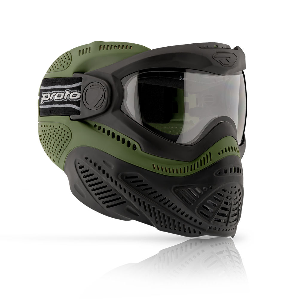 DYE Proto Switch FS Paintball / Airsoft Thermal Maske Olive Bild 3