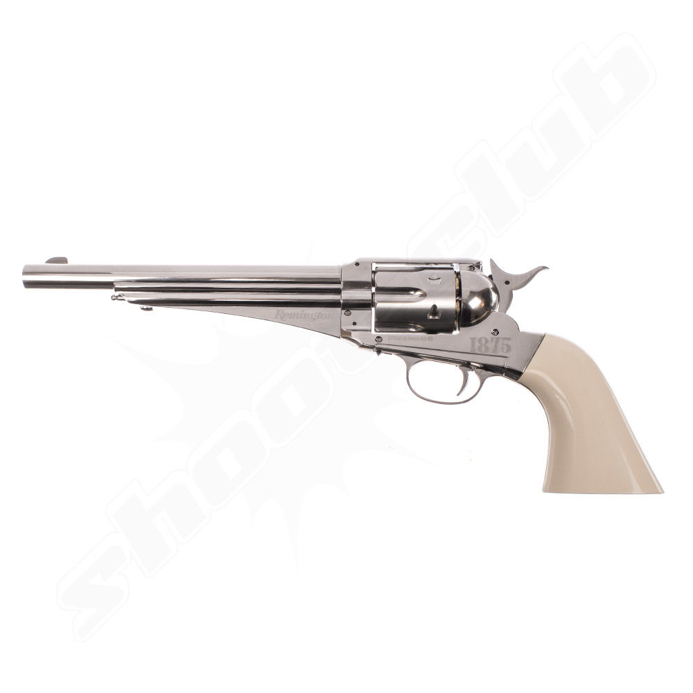 Remington 1875 CO2 Revolver 4,5mm Diabolos & Stahl BBs