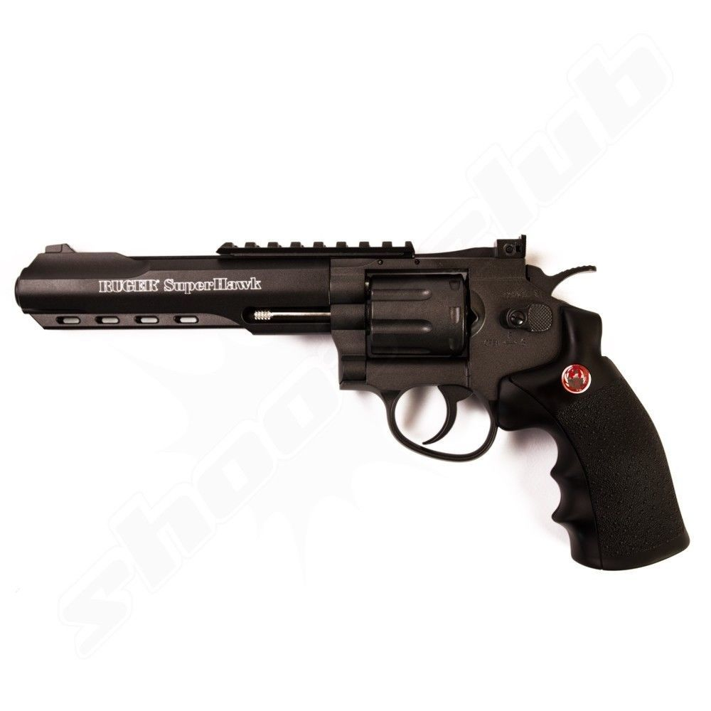Ruger Super Hawk 6 Zoll Softair CO2 Revolver - schwarz
