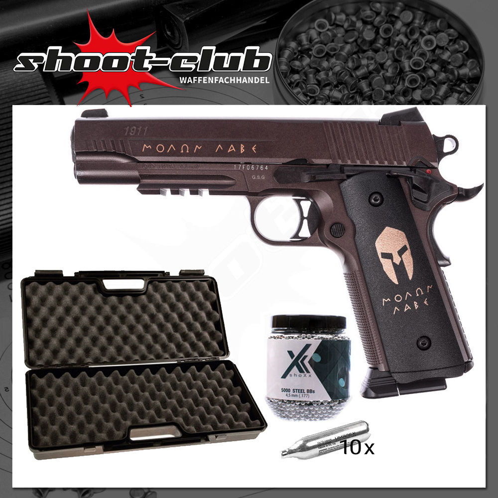 Sig Sauer 1911 Spartan CO2 Pistole Blowback 4,5 mm im Set