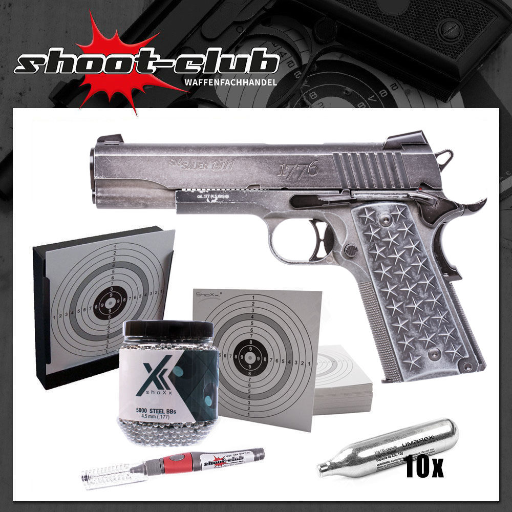 Sig Sauer 1911 WTP Blow Back CO2 Pistole 4,5 mm BB - im Set