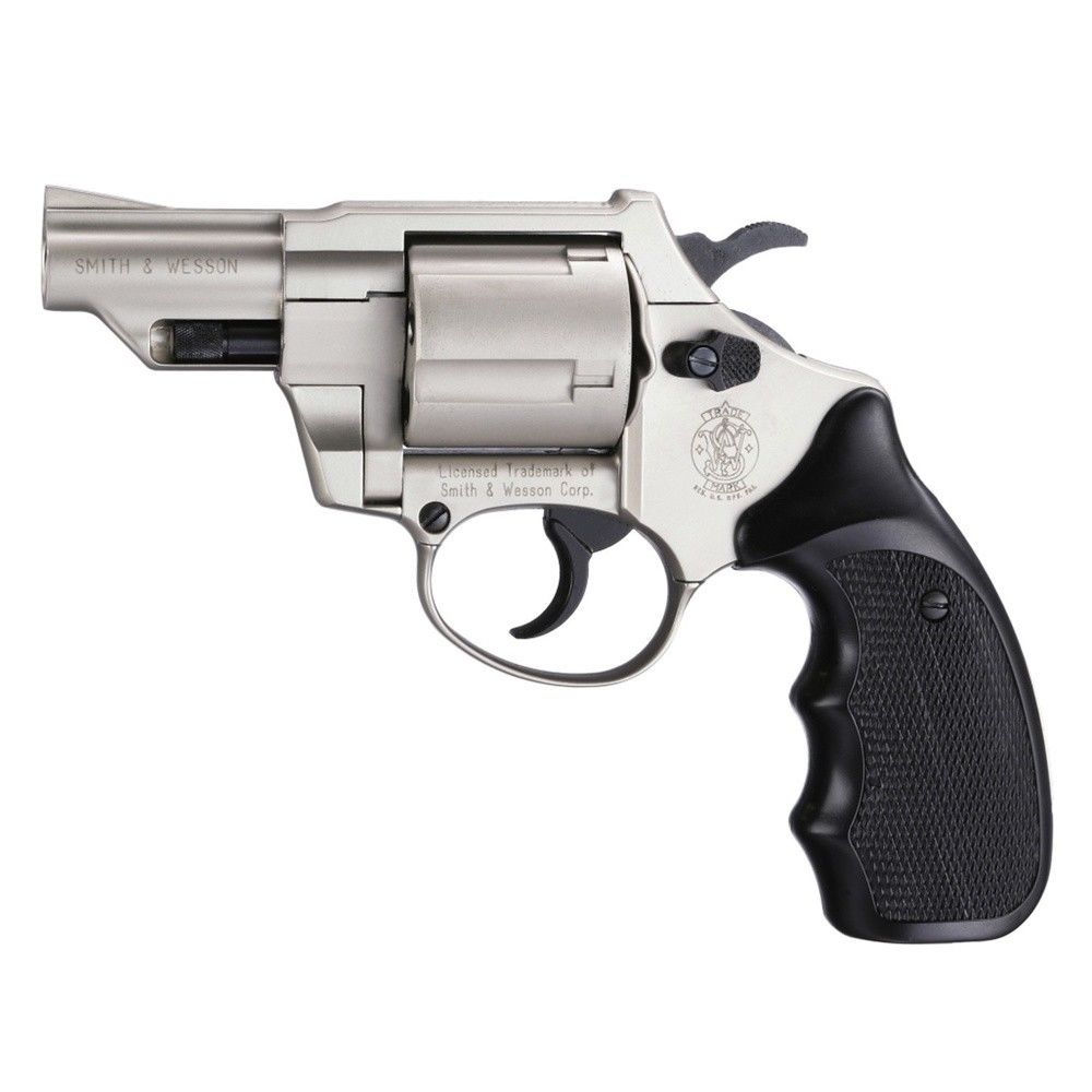 Smith & Wesson Combat nickel Schreckschussrevolver 9mm