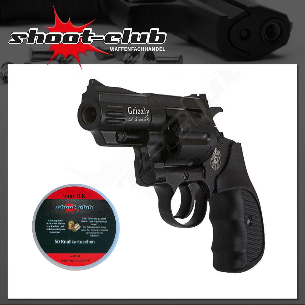 Smith & Wesson Grizzly Revolver 9mm R.K. mit Platzpatronen