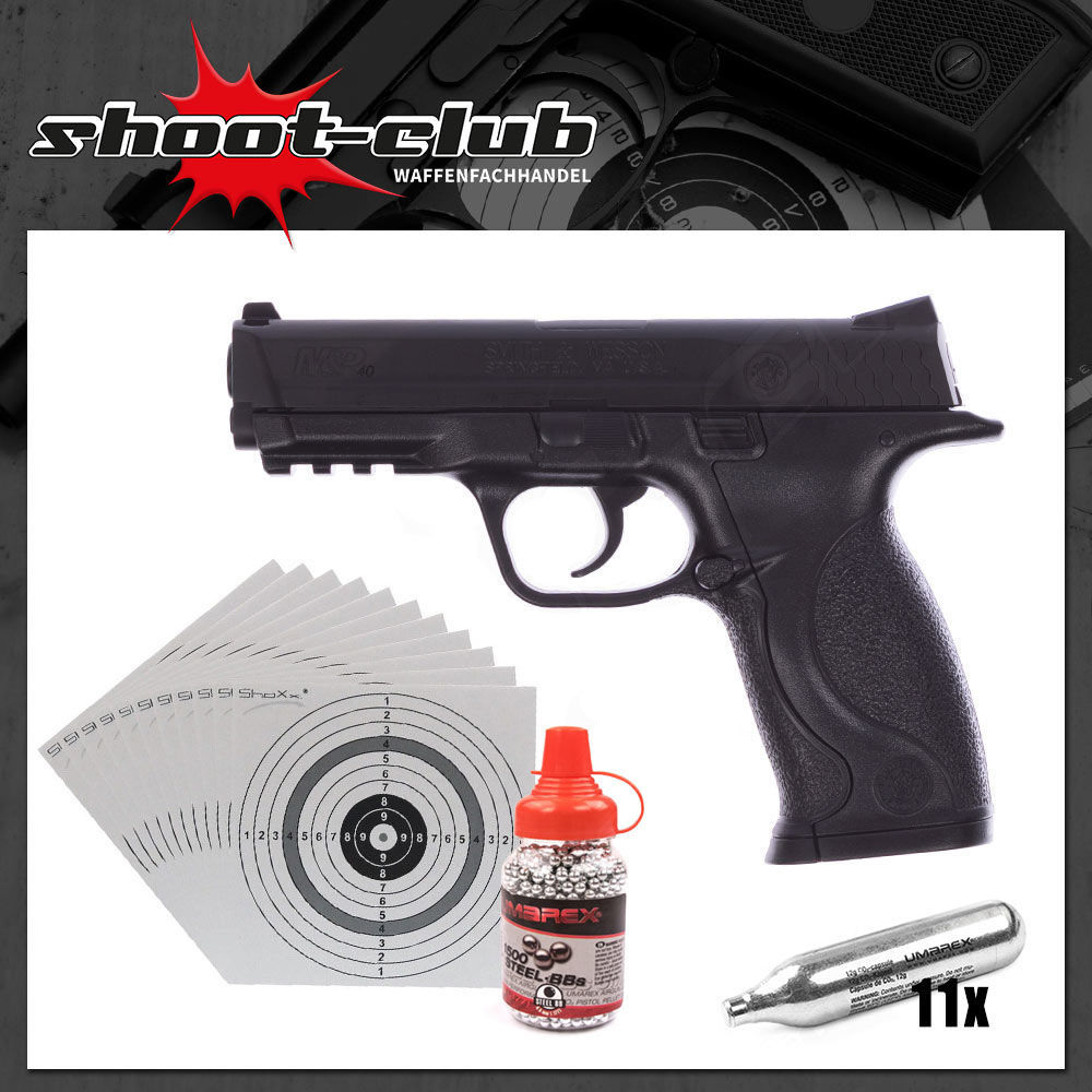 Smith & Wesson M&P 40 4,5 mm - CO2 Pistolen Set