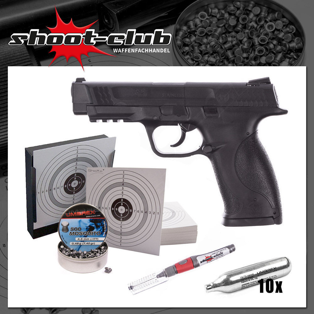 Smith & Wesson M&P 45 4,5 mm CO2 Pistole - Set
