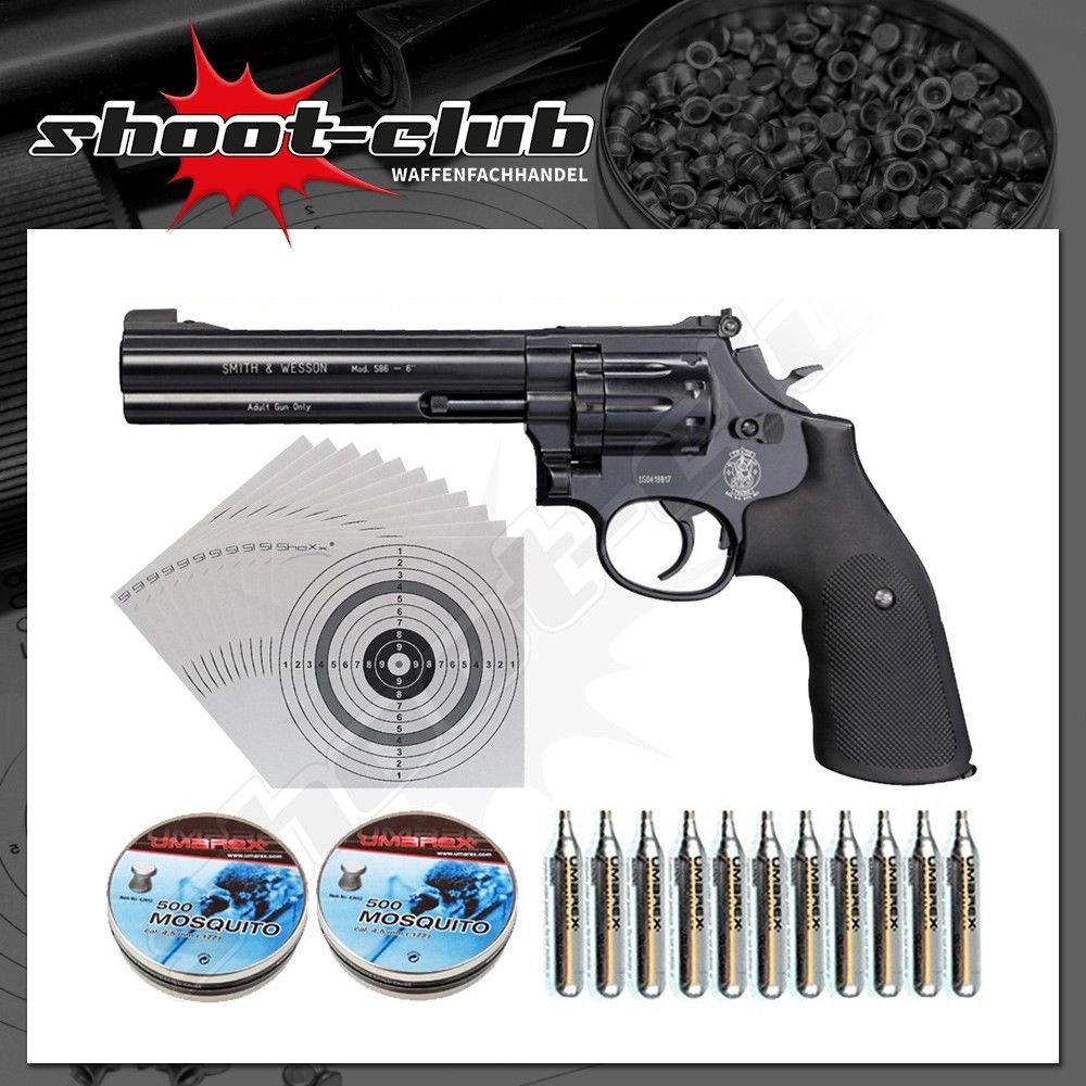 Smith & Wesson Modell 586 CO2-Revolver 4,5mm - Set