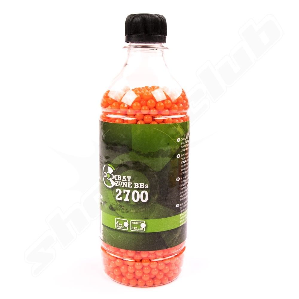 Softair BB's Combat Zone Kal. 6 mm 0,12 g - 2700 Stk