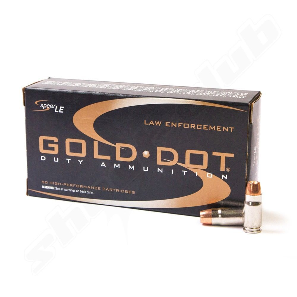 Speer Lawman Gold Dot Hollow Point Kal. 9mm - 50 Stk.