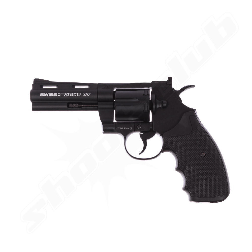 Swiss Arms .357 6 Zoll CO2 Revolver - 4,5mm Stahlkugeln