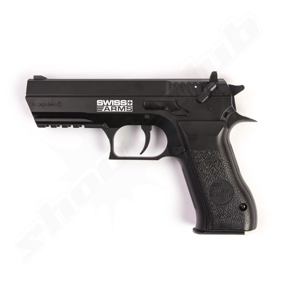 Swiss Arms 941 CO2 Pistole Kaliber 4,5mm Stahlkugeln - Non Blowback
