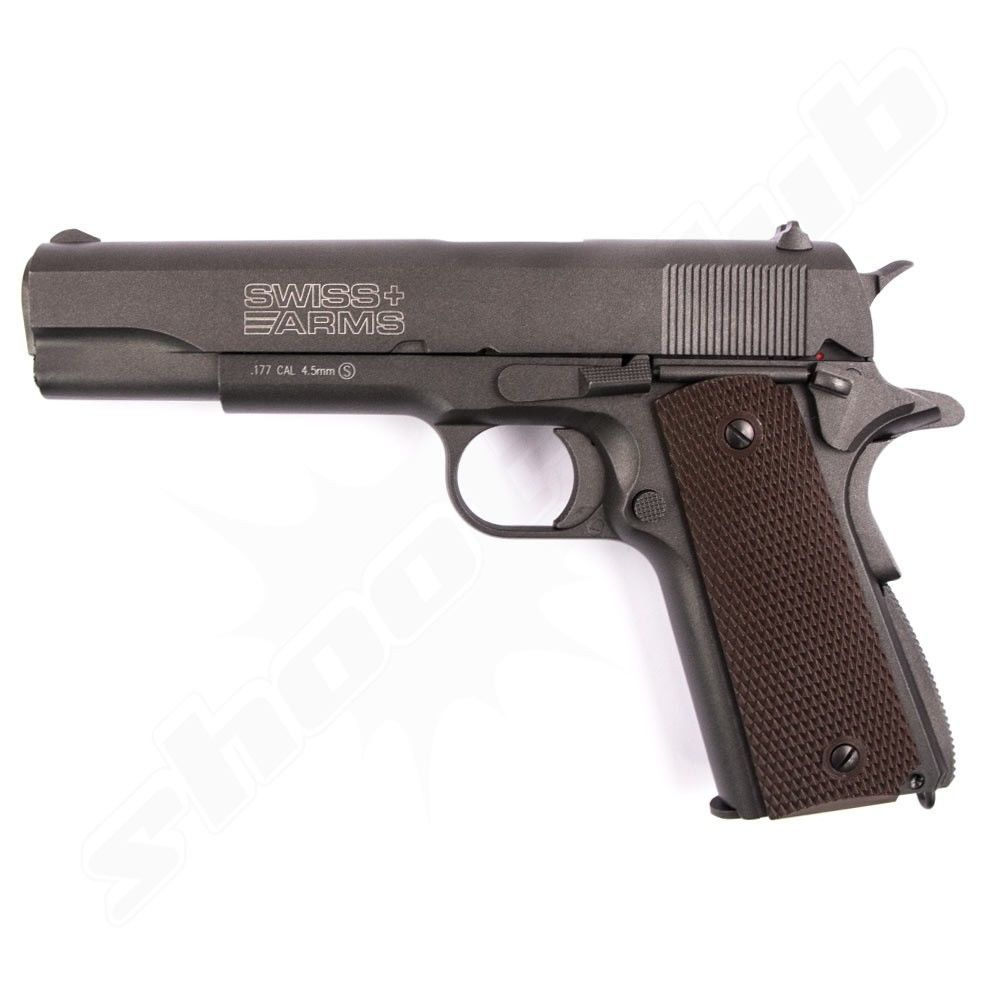 Swiss Arms P1911 CO2 Pistole mit Blowback 4,5 mm Stahlkugeln