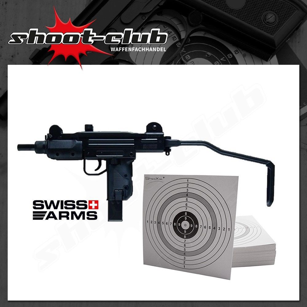 Swiss Arms Protector Kal. 4,5mm CO2 Maschinenpistolen Set + 25 ZS