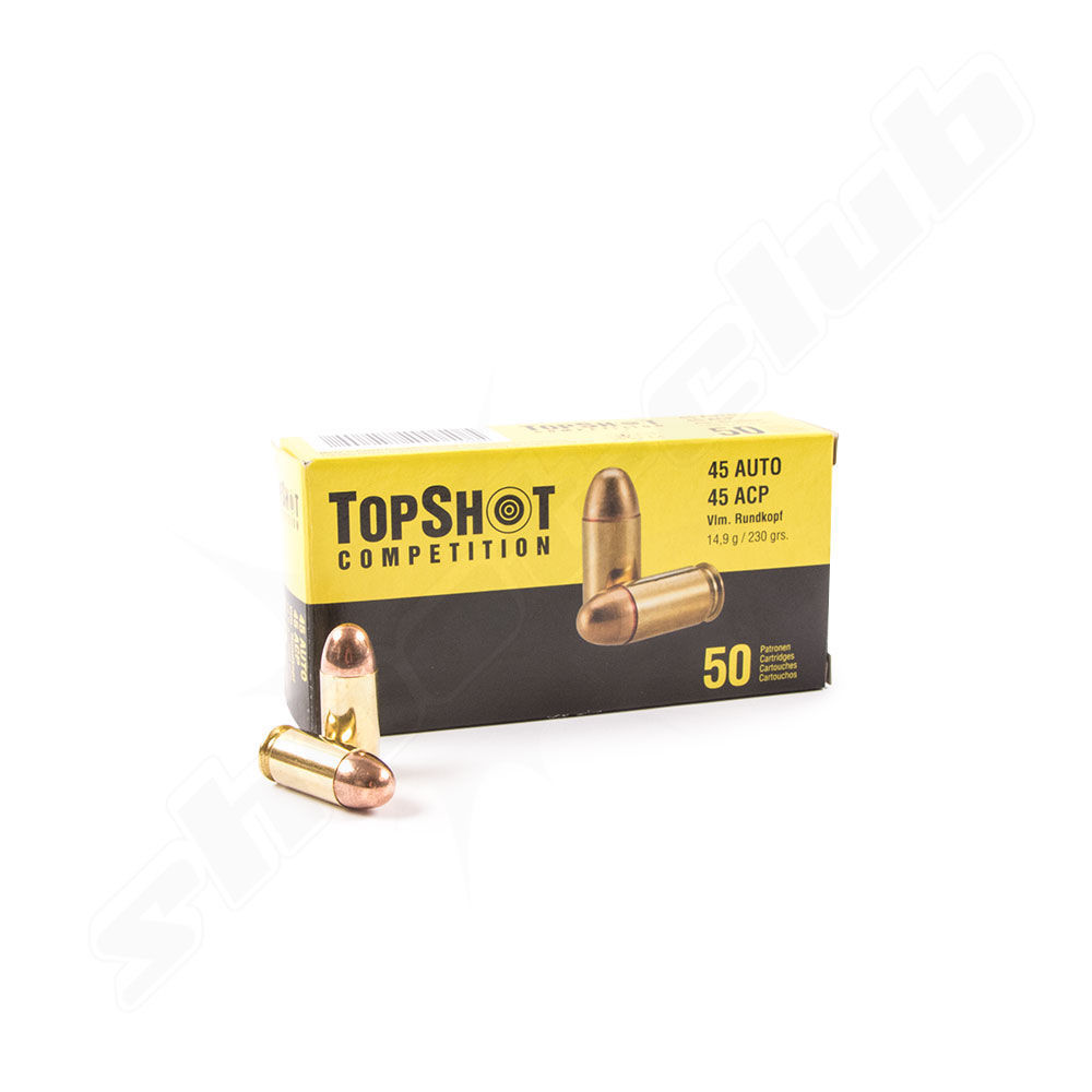 Topshot Competition FMJ - 230grs, 50 Stk. im Kaliber .45ACP